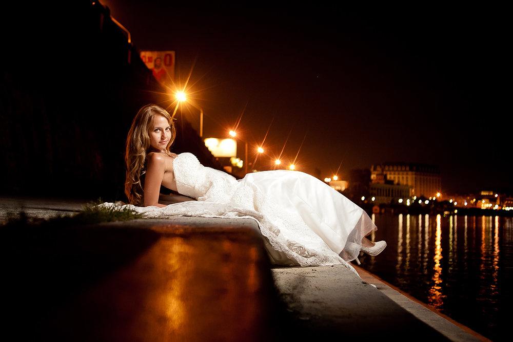 Ночная съемка мужа и жены онлайн #1