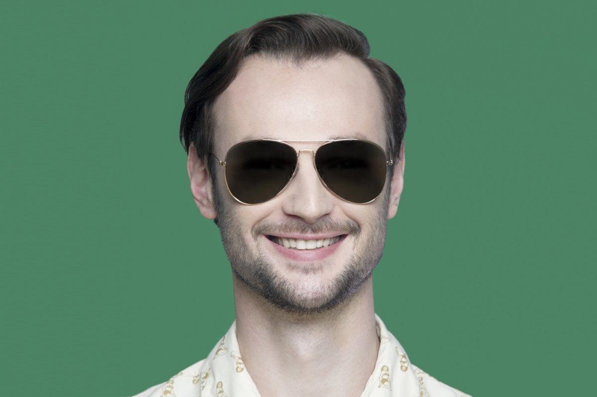 Мужские очки-авиаторы с тёмными линзами.» — карточка пользователя ... 66e116d595f