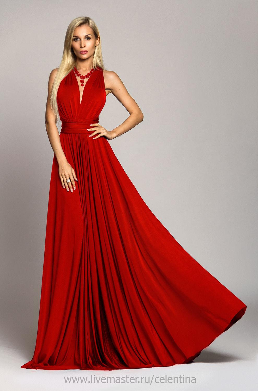 Купить Красное вечернее платье f7407f3ec1460
