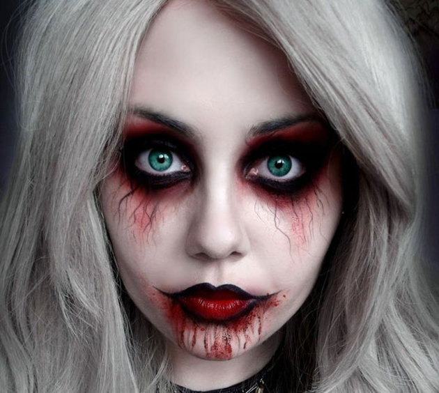 Картинки на хэллоуин на лицо страшные