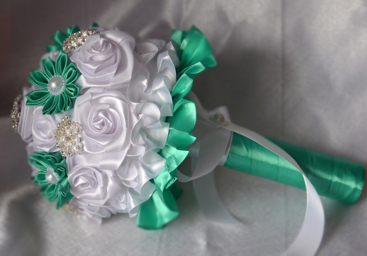 Как сделать свадебный букет для невесты, тюльпанов