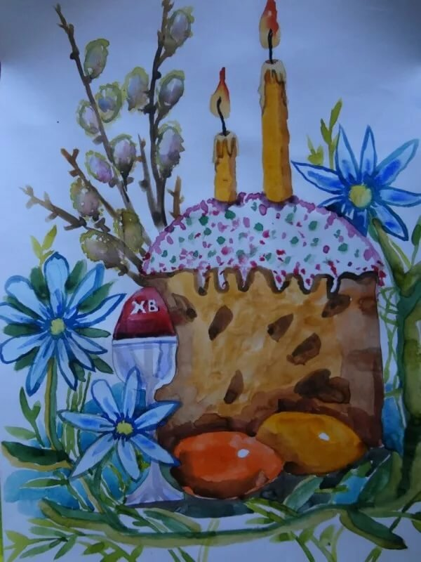 Картинки нарисовать пасху
