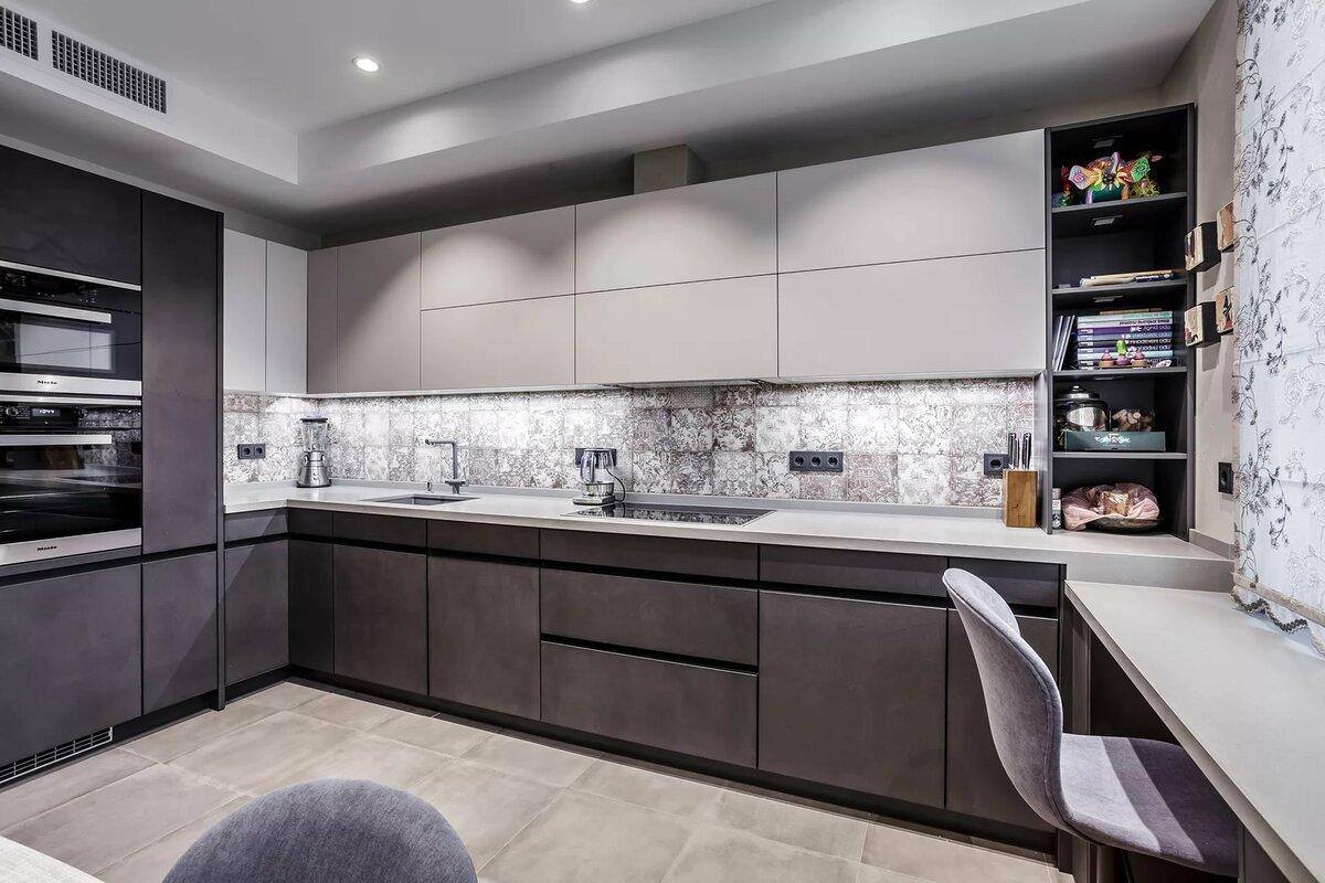 авиационное топливо кухня в серых тонах дизайн фото порой