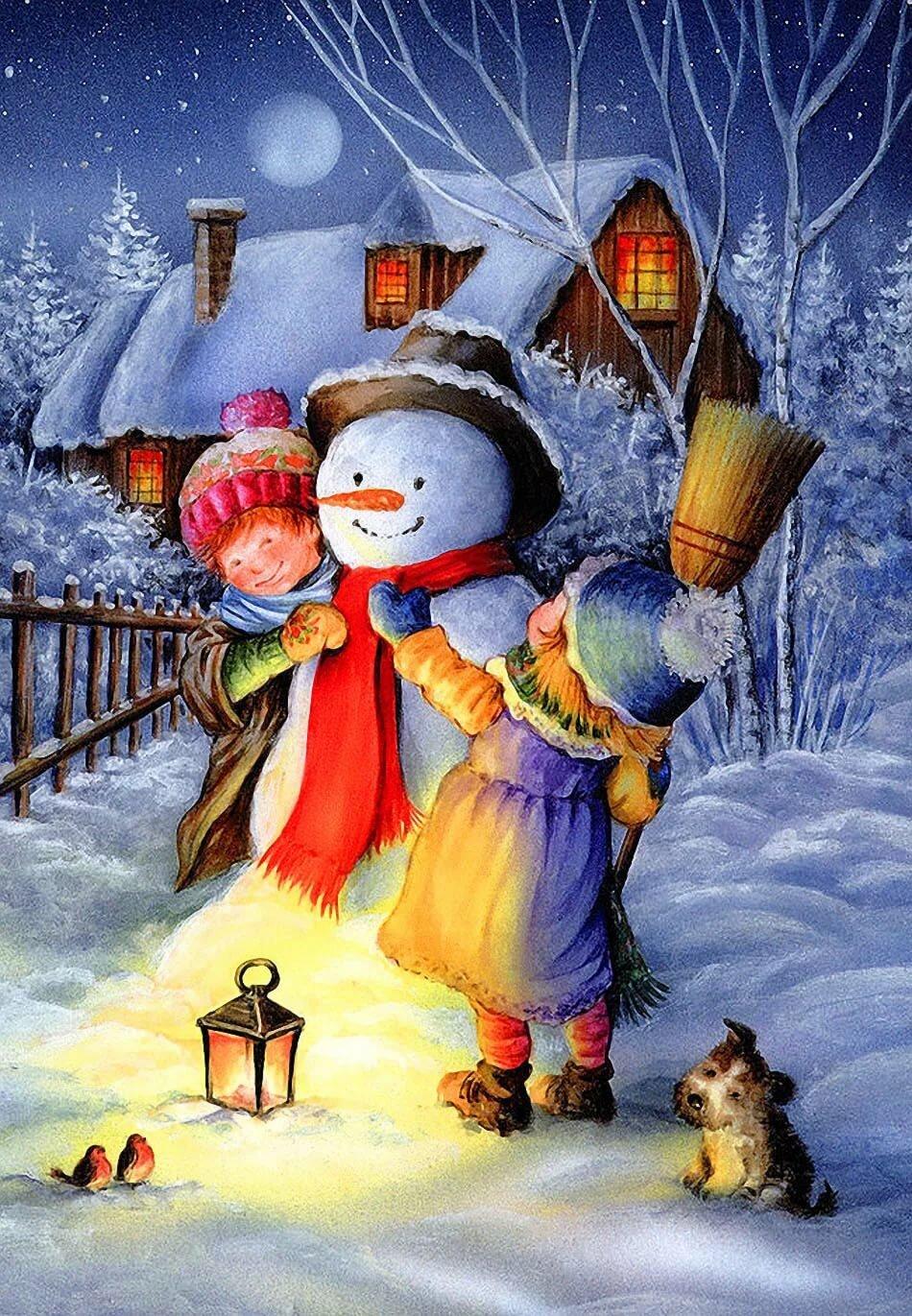 Рождество новый открытки