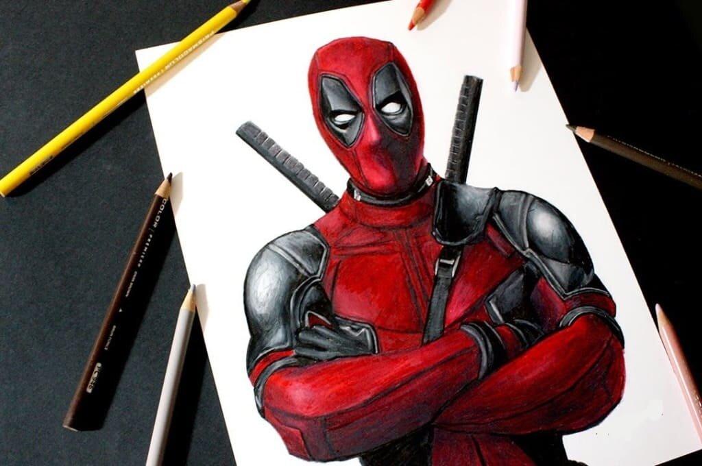 Картинка как рисовать дэдпула