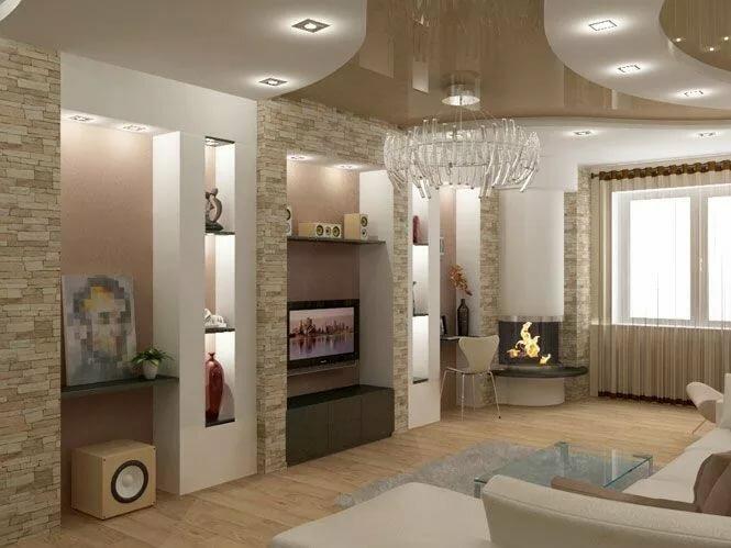 дизайн смежной гостиной фото это