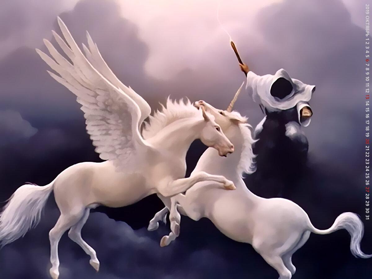 картинки единорогов и ангелов