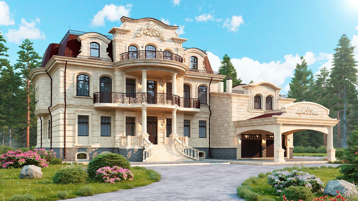 Шикарный трехэтажный дом картинки