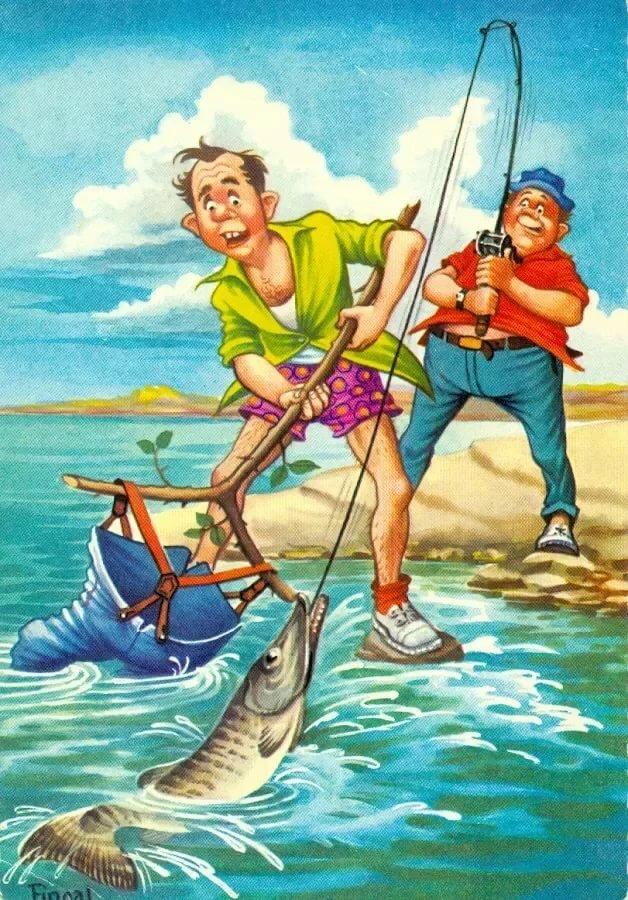 На рыбалку веселые картинки