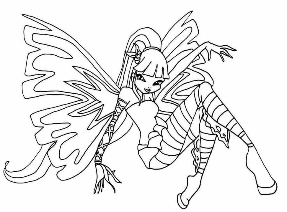 Раскраски фея винкс распечатать