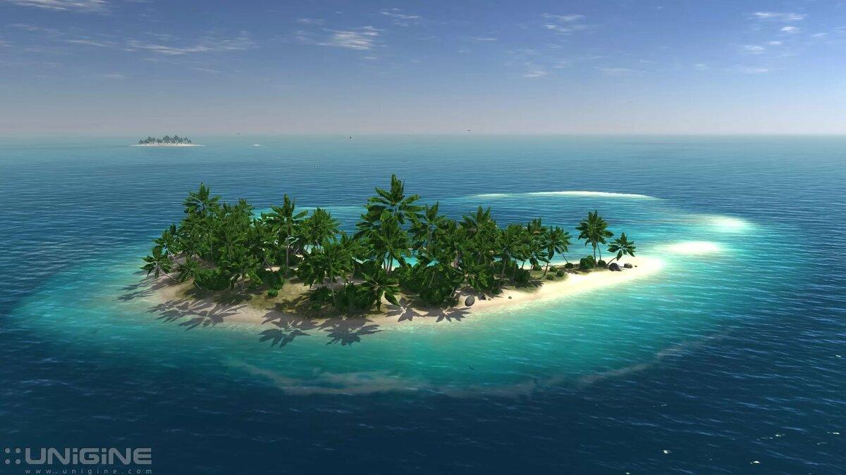 Остров череп картинки красивый