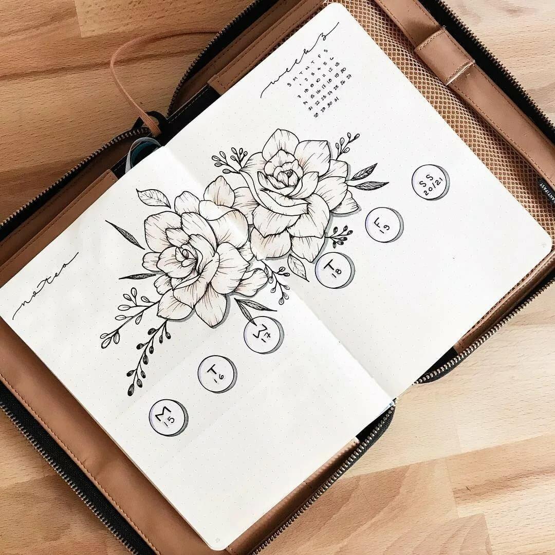 красивые рисунки которые можно нарисовать в блокнот частности, здесь живут