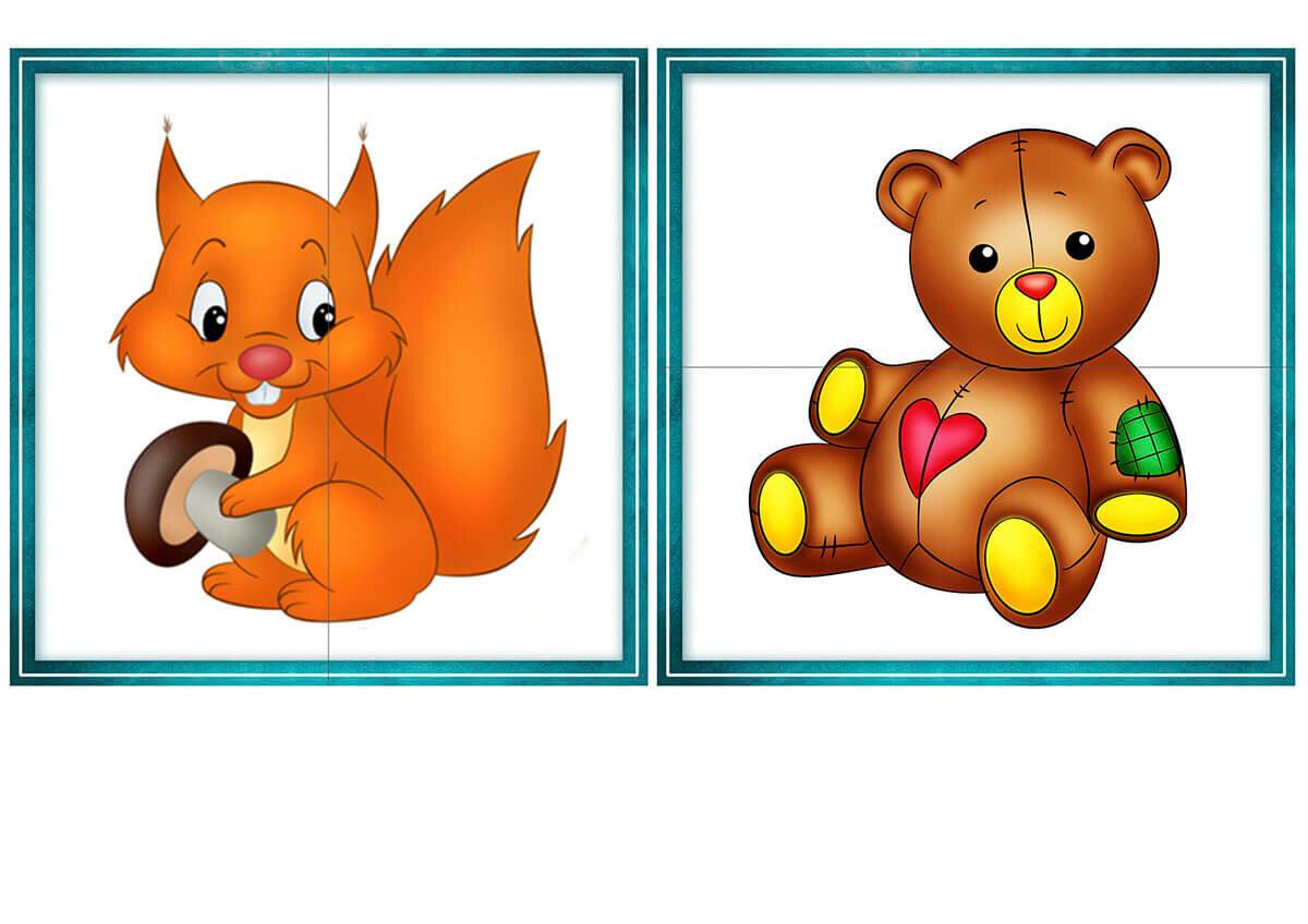 Дидактическая игра разрезные картинки цель младшая группа