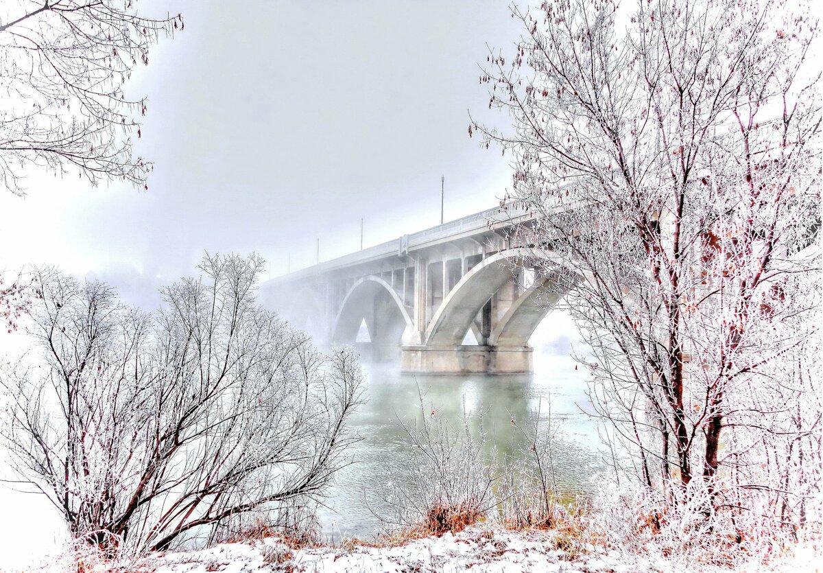 студии зимняя мостовая картинки кухни полуостровом