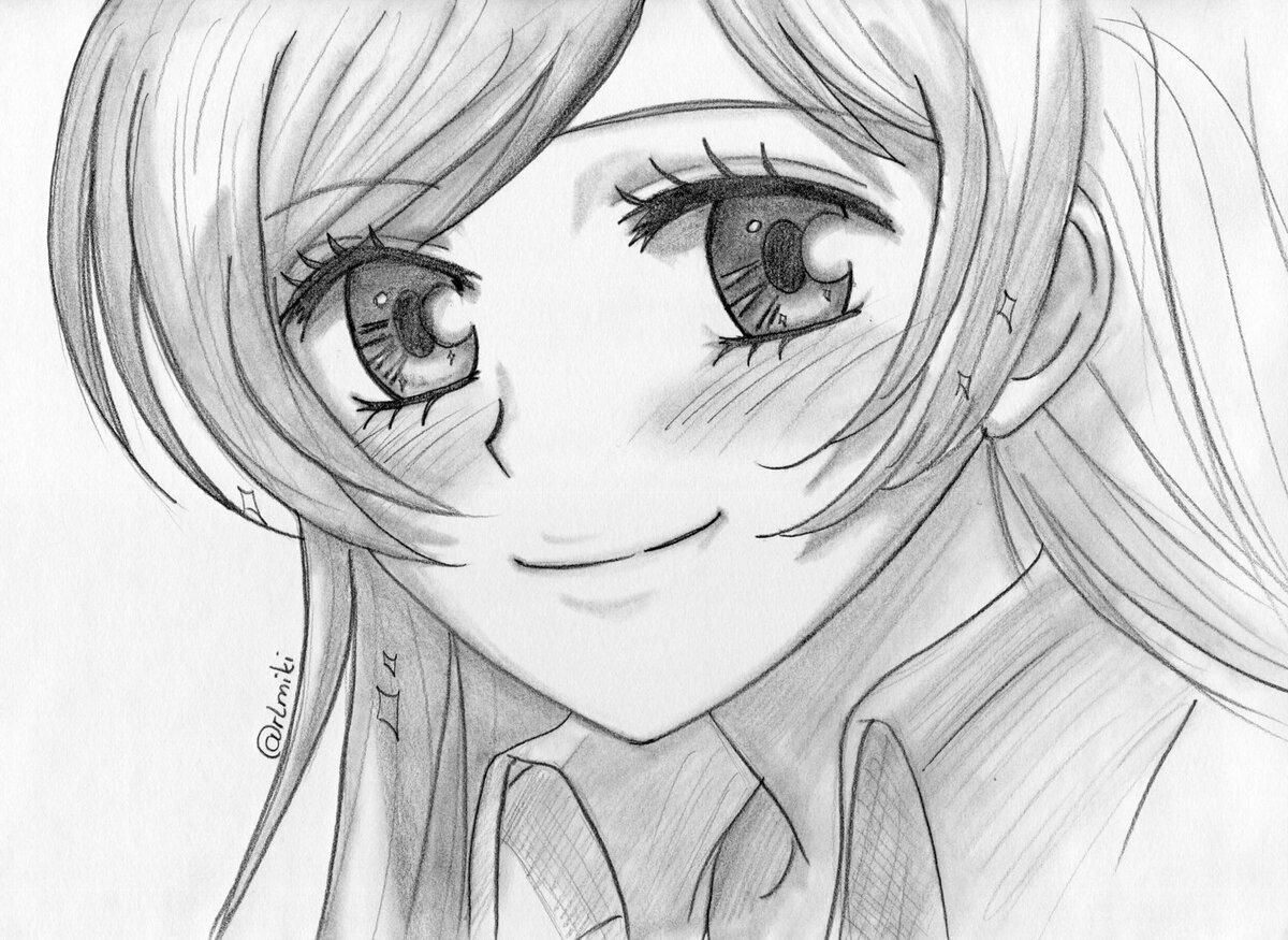 Аниме картинки нарисованые карандашом