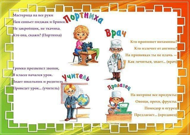 Картотека профессий для детского сада в картинках