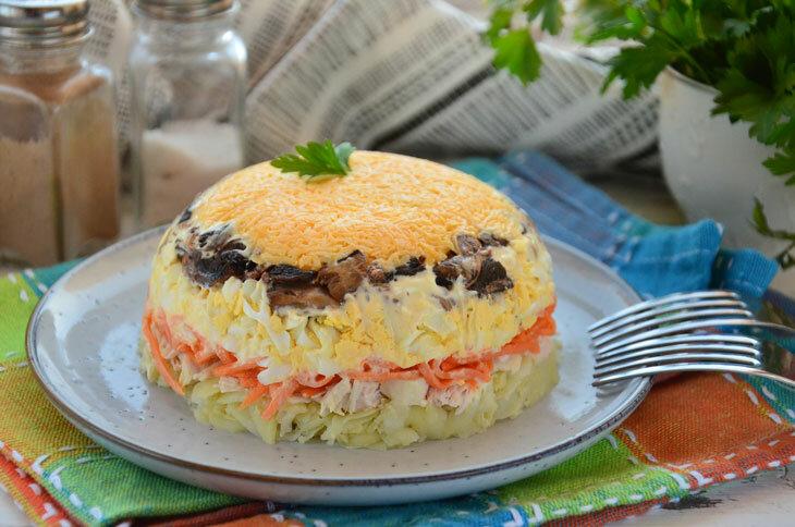 салат царский рецепт с фото пошагово минимум