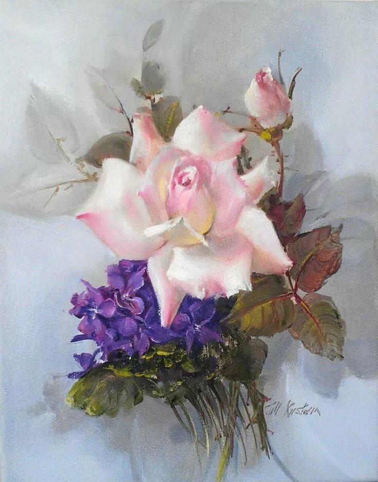 розы с фиалками картинки любовь сцене девочки