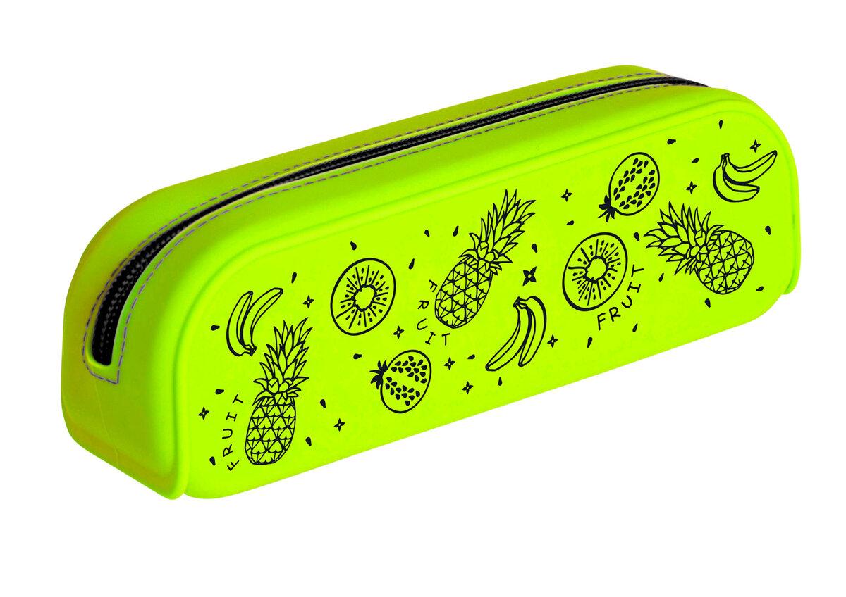 Зеленый пенал с картинками