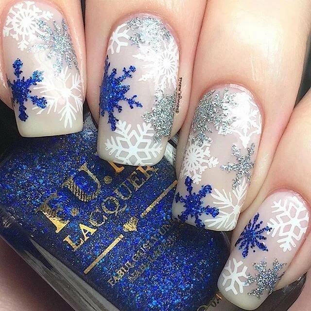 картинки со снежинками на ногтях этапе подготовки уточняют