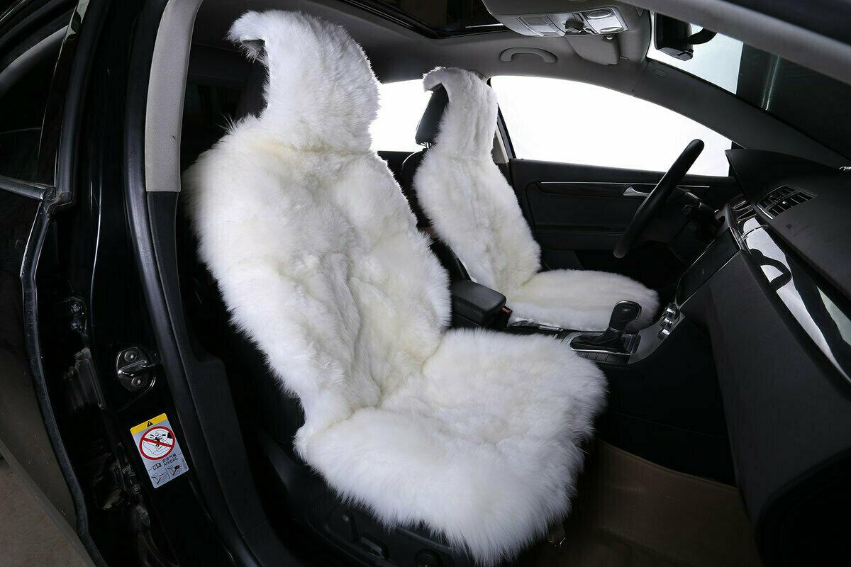Меховые чехлы на сиденья автомобиля фото