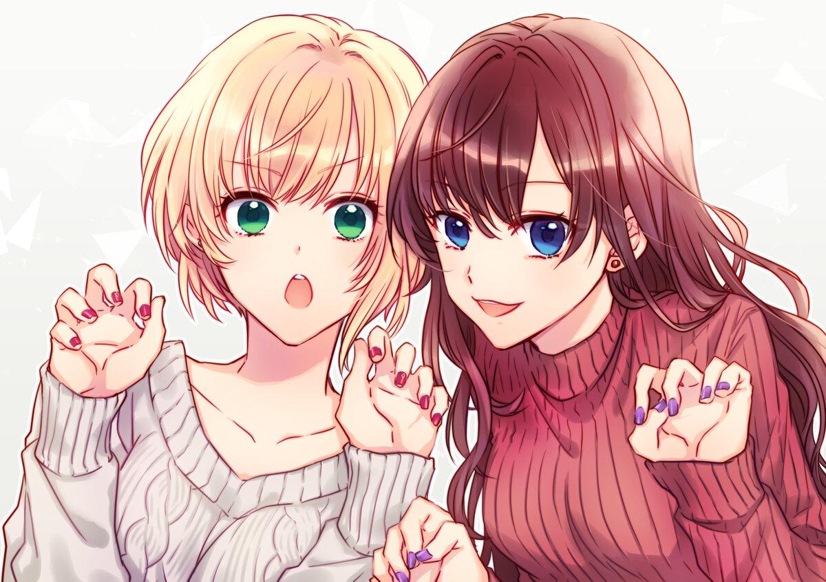 Подруги аниме картинки