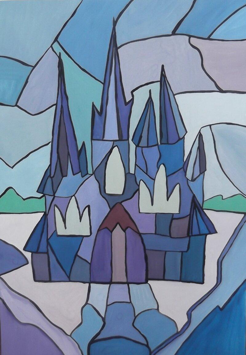 Раскраска царство снежной королевы