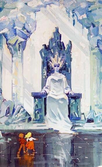 Трон снежной королевы картинки