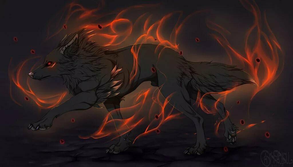Картинки пламенные волки