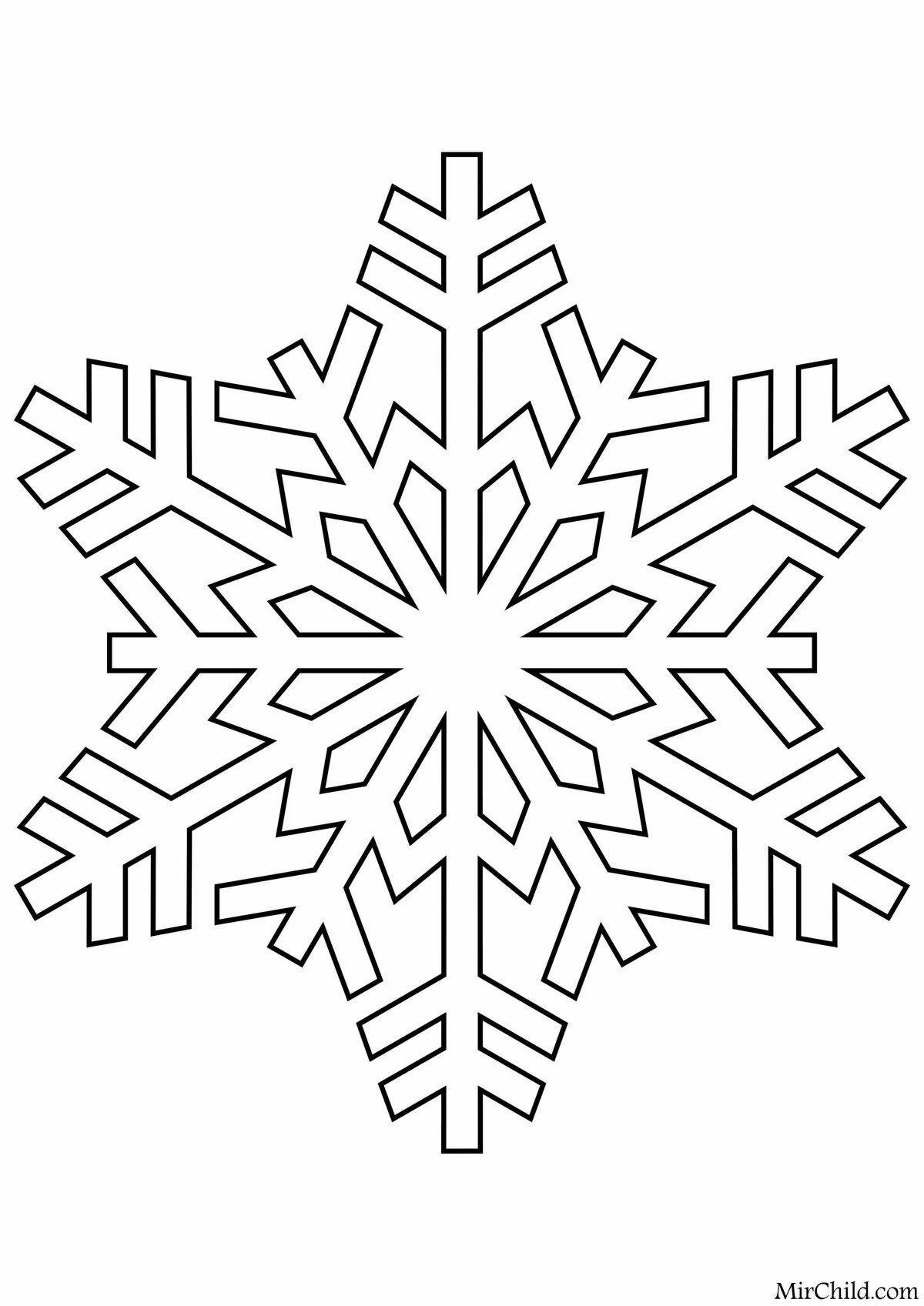 Красивые снежинки картинки распечатать для