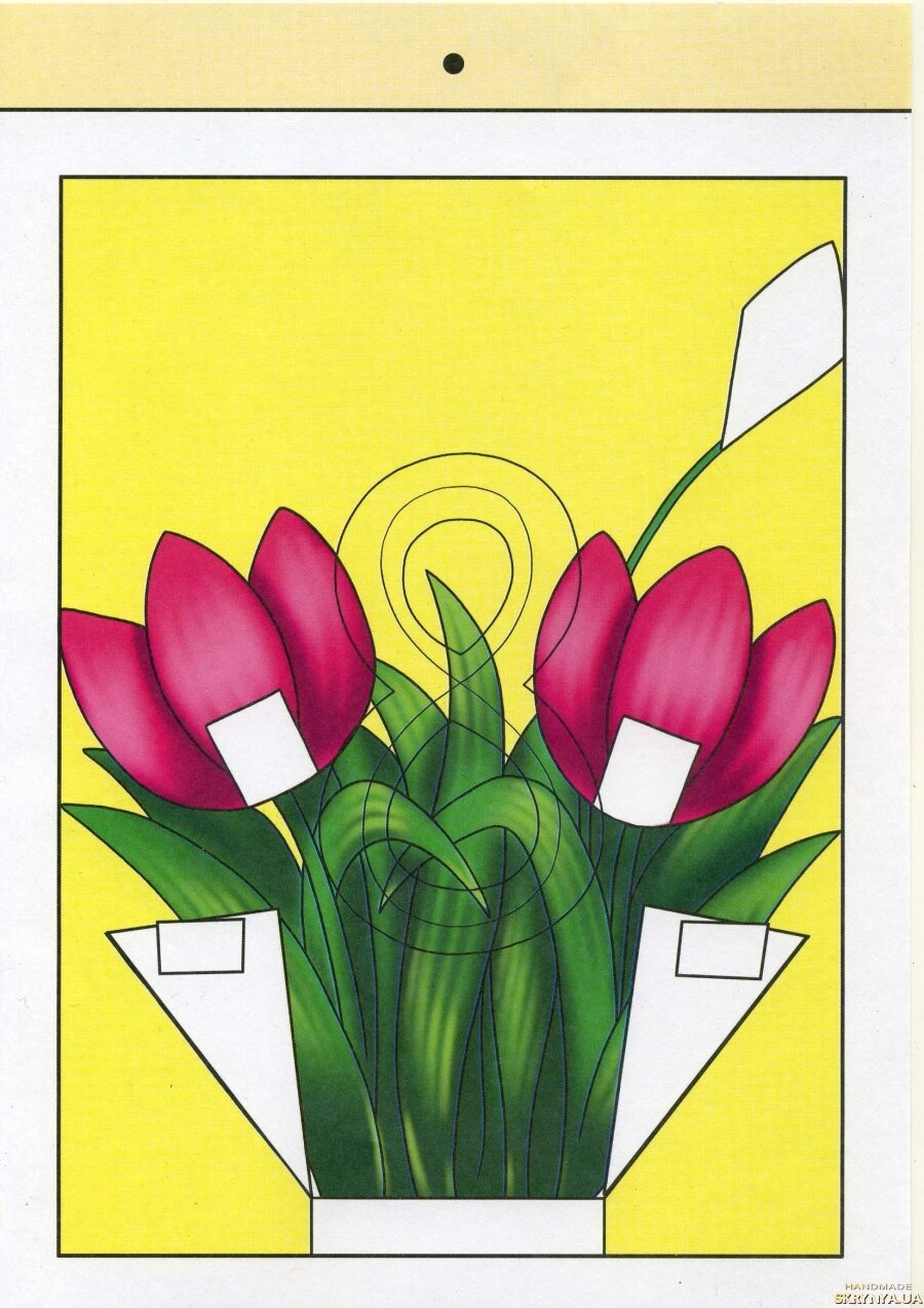 Схема открыток на 8 марта своими руками