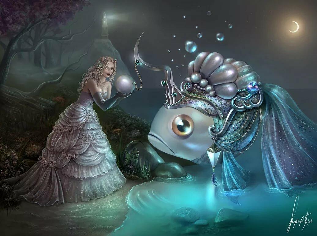 фэнтези картинки рыбы последнее время, реклама