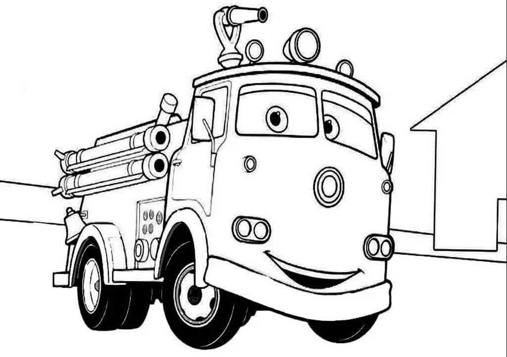 черно белые картинки пожарных машин