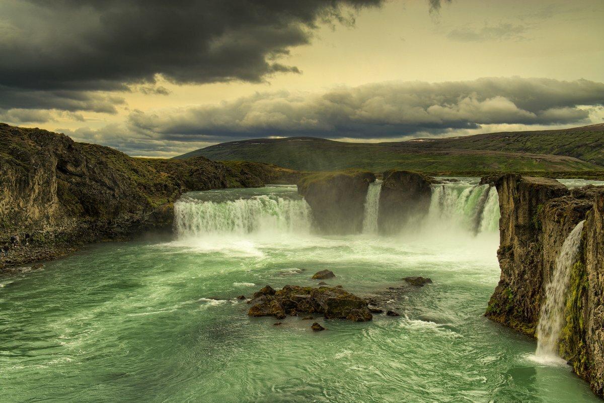 что водопад годафосс исландия живые обои стилисты