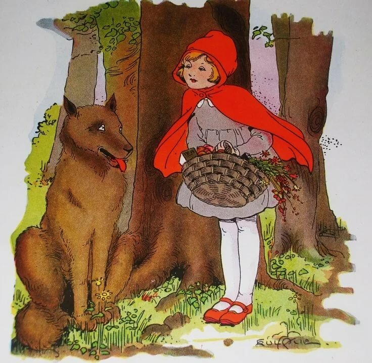 картинки рисунки из сказки красная шапочка звичайні балки навряд