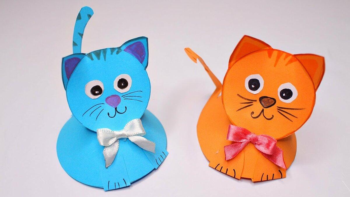 Поделка котенок своими руками для детей