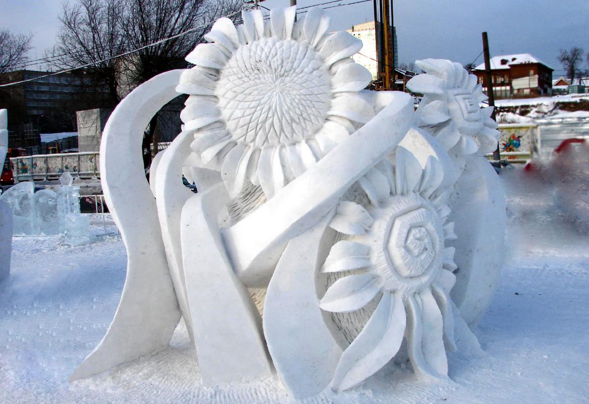 выпускается только снежные скульптуры своими руками фото вам необходимо