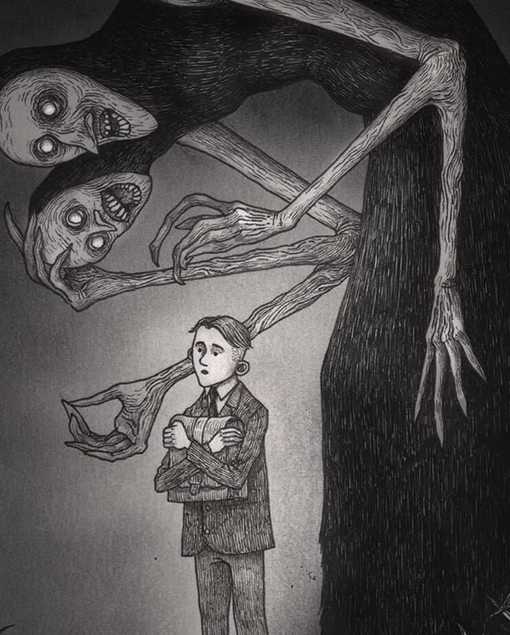 Самые страшные рисунки детей данкар