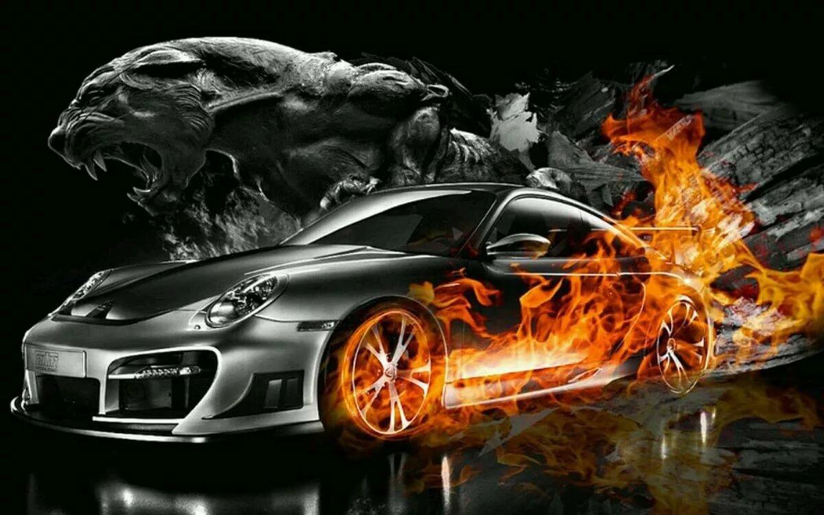 документов, авто в огне картинки который