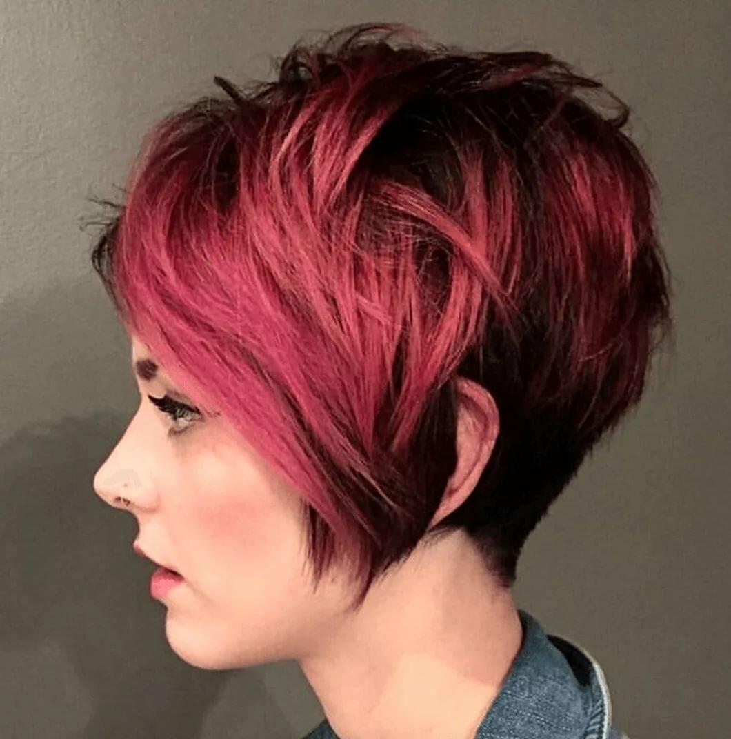короткие стрижки и красный цвет волос фото обновление фото