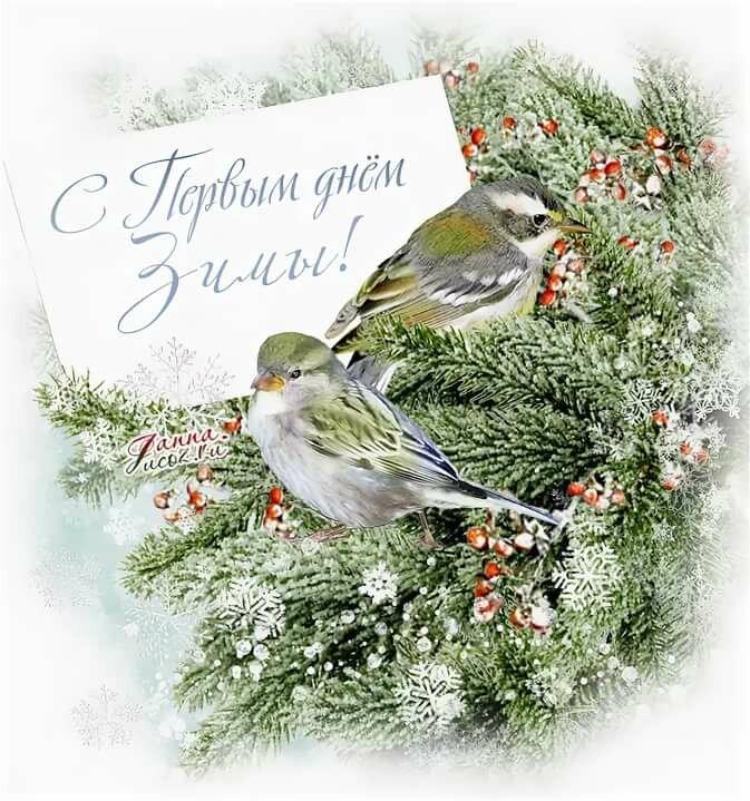 Картинка первый день зимы красочная