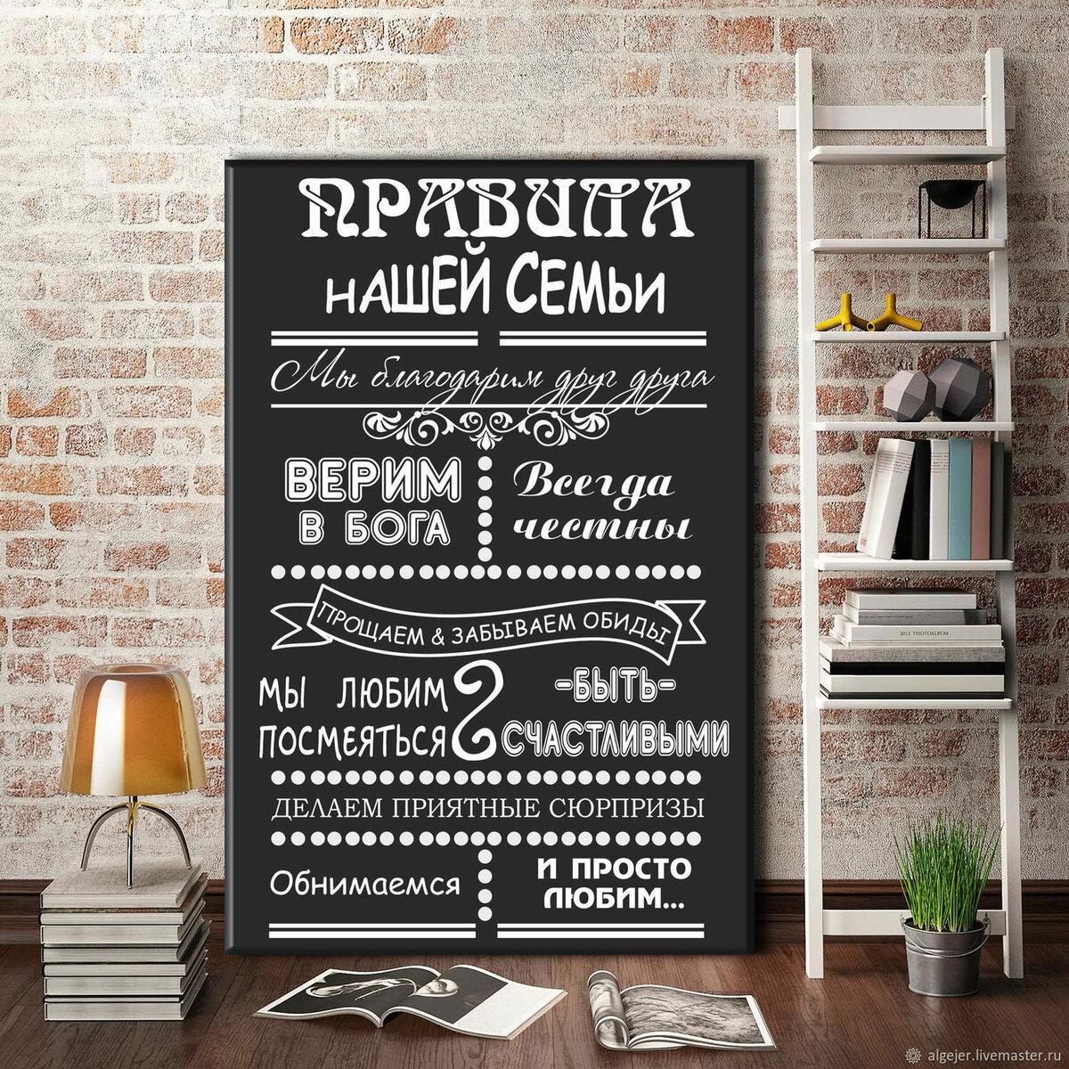Постеры в интерьере правила