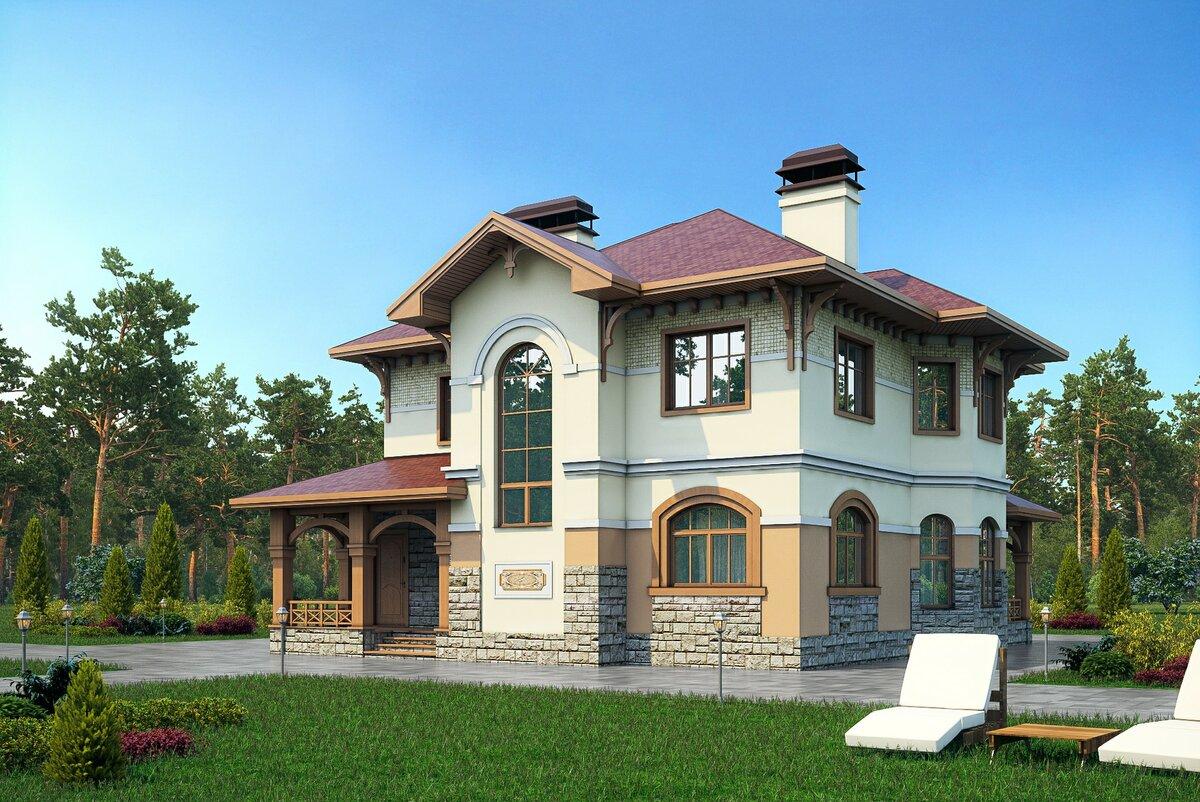 нашем интернет красивый проект двухэтажного дома фото вопрос