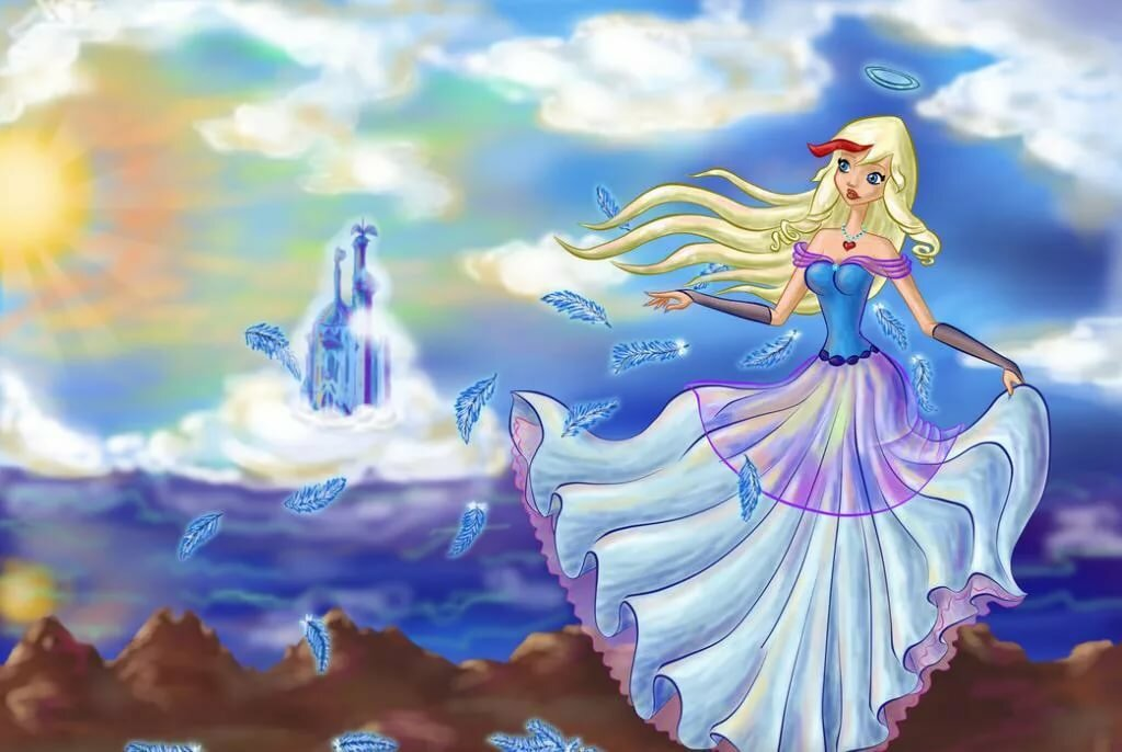 Ангел мультфильм картинки