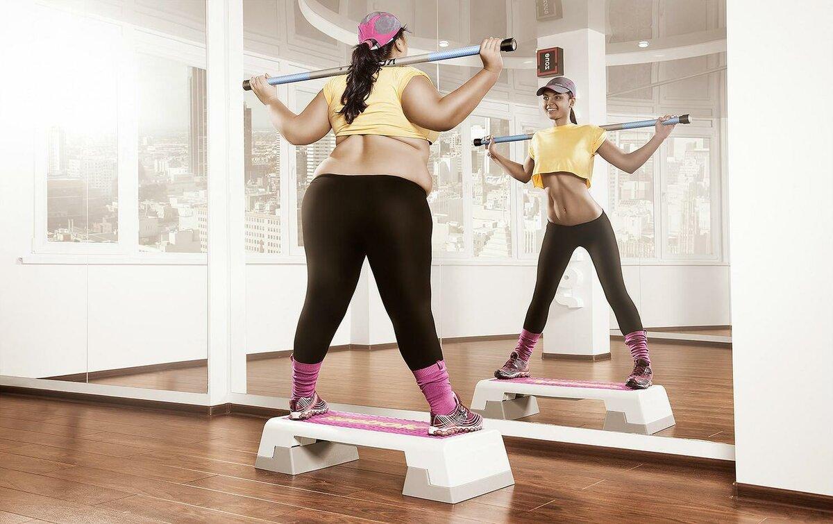 В спортзале можно похудеть