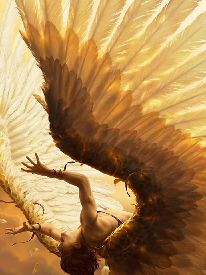Картинки падающего ангела