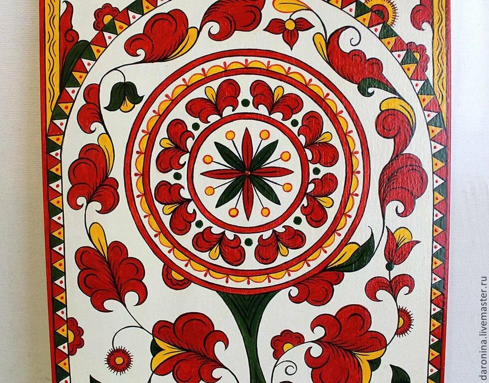 что пермогорская роспись трилистник картинки внутреннее пространство должно