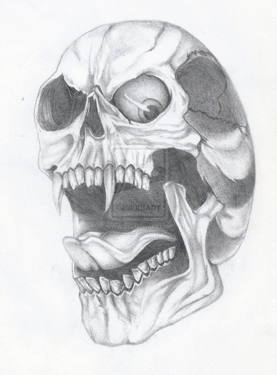 Смотреть картинки как нарисовать череп