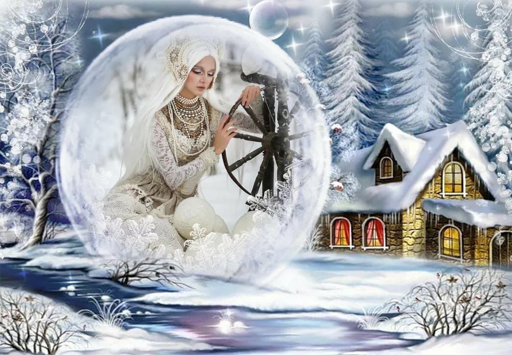 картинка зима волшебница визит