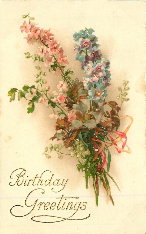 С днем рождения ретро открытки на английском
